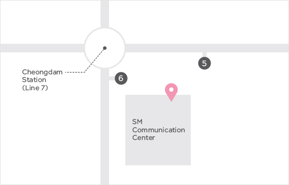 smtown cafe map